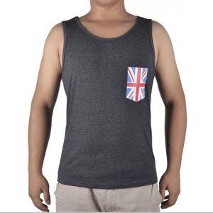 NWT Mens Triblend British Pocket Training Charcoal